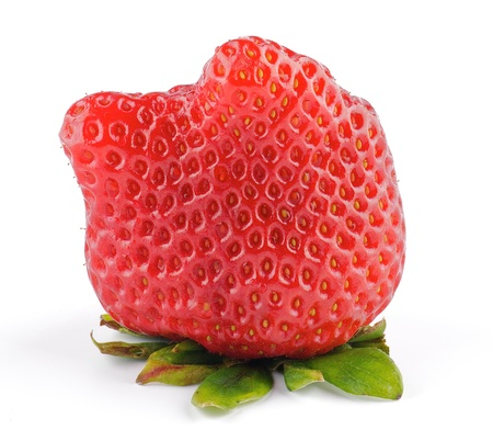 Fresh Ripe Perfect Strawberriy isolated on white background Stock Photo - 13028570