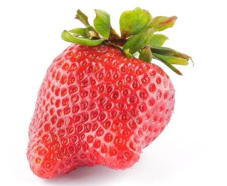 Fresh Ripe Perfect Strawberriy isolated on white background Stock Photo - 13474084