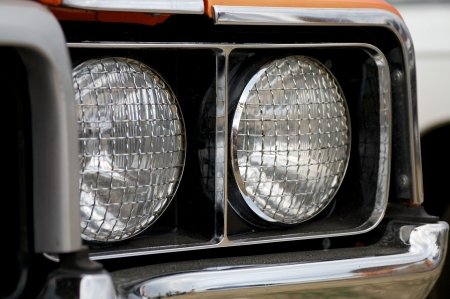 safety net: Double Headlights with Silver Safety Net close up