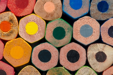 Background of Rainbow Colored Pencils closeup photo