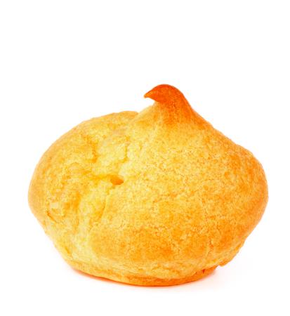 choux bun: Freshly Baked Profiterole isolated on white background Stock Photo