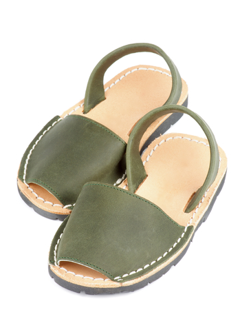 12 18 months: Baby Marsh Color Leather Sandals isolated on white background
