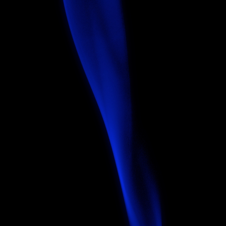 morphing: Abstract Strip of Dark Blue Smoke on Black background