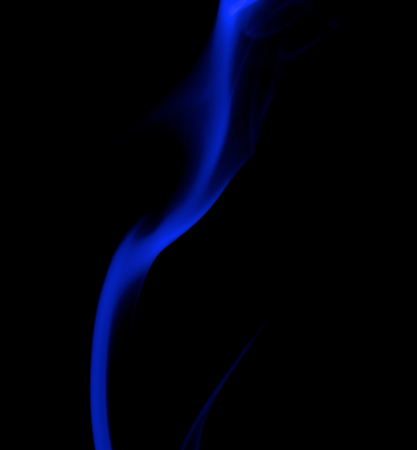blue smoke: Abstract Fancy Strip of Dark Blue Smoke on Black background Stock Photo