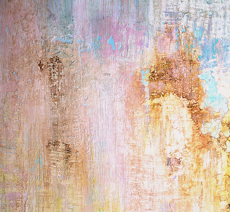 damaged cement: Beige, Blue and Pink Damaged Obsolete Cement Wall Background closeup