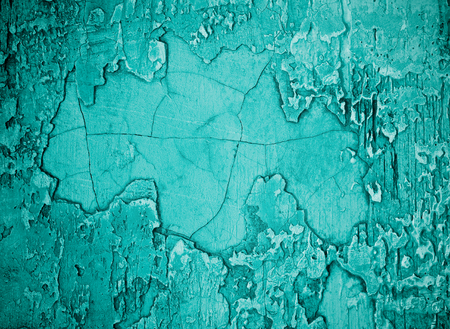 damaged cement: Turquoise Damaged Obsolete Cement Wall Background closeup