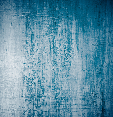 obsolete: Grey and Blue Damaged Obsolete Cement Wall Background closeup Stock Photo