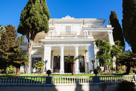 sissy: Achilleion palace in Corfu Island, Greece, built by Empress of Austria Elisabeth of Bavaria, also known as Sisi.