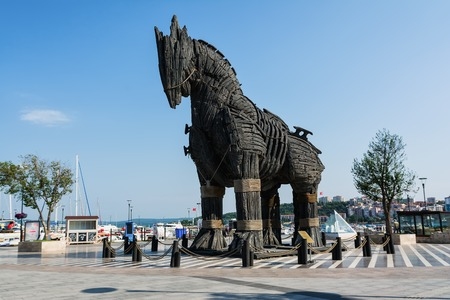 The Trojan Horse in the city of Canakkale, Turkey