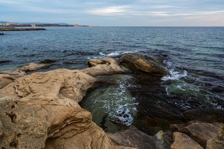 Seascape at Black Sea coast near Ravda village, Bulgaria. Stock Photo