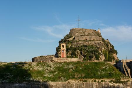 The Old Venetian Fortress in Kerkyra, Corfu island, Greece.
