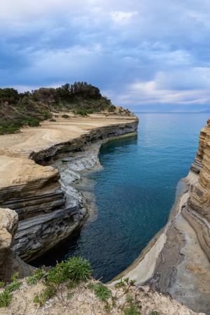 The Channel of Love, Canal damour in Sidari. Corfu Island, Greece. Stock Photo