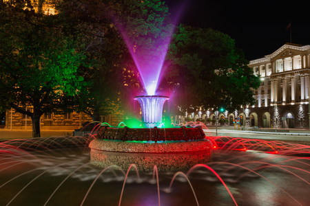 Fountain in front of The Presidency building, Sofia, Bulgaria. Editorial