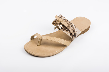 Womens sandal on white background. Summer fashion.