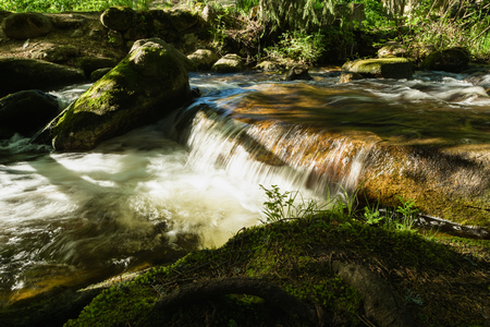 Vitosha Natural Park near Sofia, Bulgaria. The Golden Bridges area. Water stream landscape.