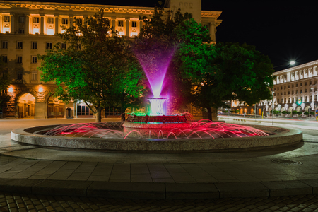 Fountain in front of The Presidency building, Sofia, Bulgaria. Stock Photo