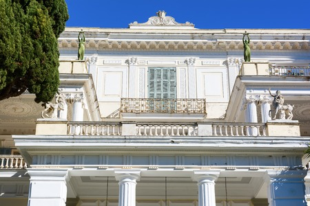 Achilleion palace in Corfu Island, Greece, built by Empress of Austria Elisabeth of Bavaria, also known as Sisi.