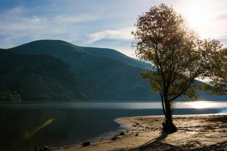 Beautuful Rodopi mountain landscape, Bulgaria. Dam Kardzhali