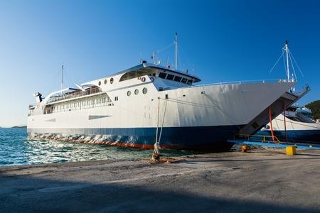 Ferryboats in port of Igoumenitsa, Greece. Traveling to Corfu island.