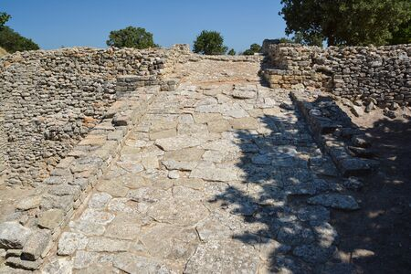 The ruins of the legendary ancient city of Troy near Canakkale, Turkey