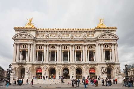 academie: France, Paris - Spring 2008: View of the Facade of Opera National de Paris or Palace Garnier in Paris. Editorial