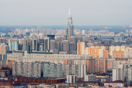 Russia, Moscow -  Spring 2007: View of the city from a height.