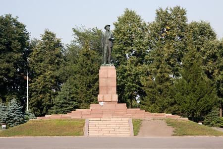 Michurinsk. Russia - Summer 2008: Monument to Ivan Michurin russian biologist and breeder, author of many varieties of fruit and berry crops, Doctor of Biology
