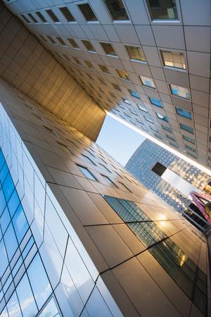 The modern skyscrapers of La Defense business district. Paris. France
