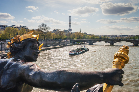 Alexanders third bridge in Paris. France