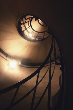 Spiral staircase in Arc de Triomphe. Paris. France