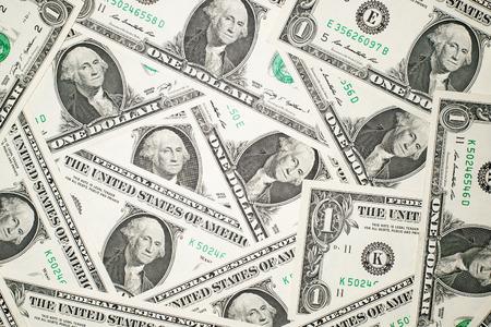 emolument: A lot of banknotes 1 US dollars