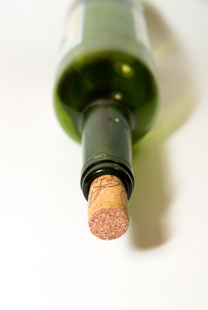 gag: The neck of a wine bottle with a stopper
