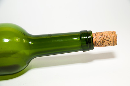 stopper: The neck of a wine bottle with a stopper
