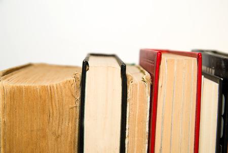 cognicion: Varios libros est�n uno al lado del otro Foto de archivo