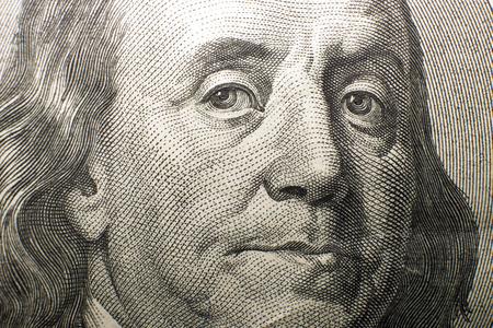 emolument: Portrait of Franklin shown in US 100 Stock Photo