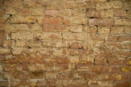 backstop: Old brick wall.It can be used as background or texture.