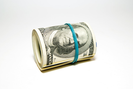 billfold: Several banknotes US dollars related to the stack