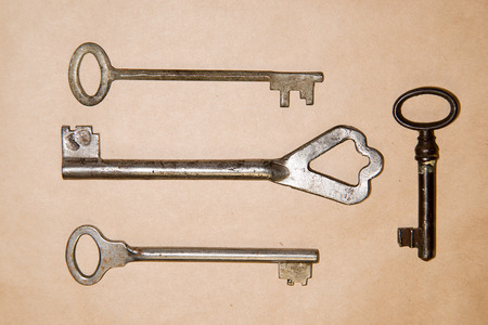safeness: Some vintage keys from the locks on craft paper
