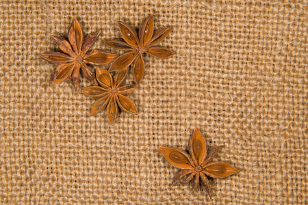 smack: Few star anise  on old cloth