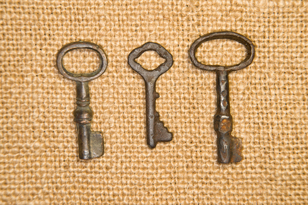 safeness: Some vintage keys from the locks on old cloth