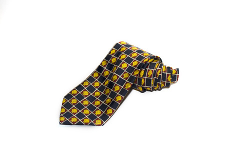 refinement: Beautiful tie with a cheerful pattern on a white background