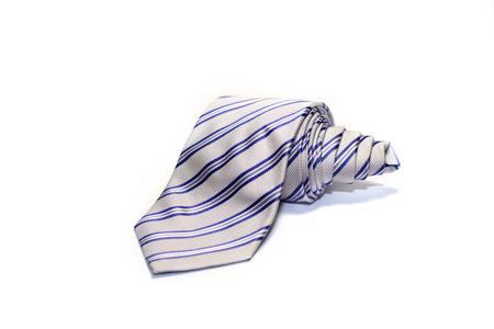 elegancy: Beautiful striped necktie on a white background
