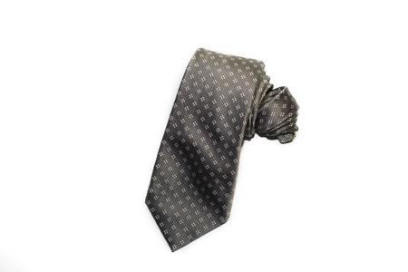 refinement: Beautiful dark grey tie on a white background