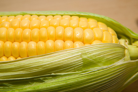 emporium: Fruit ripe corn with leaves in large