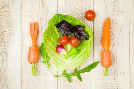 regimen: Set of fresh vegetables for a healthy diet