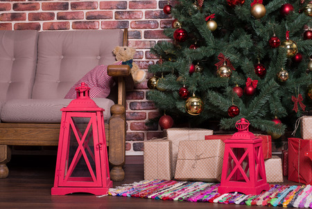 exultation: A lot of Christmas gifts under the tree