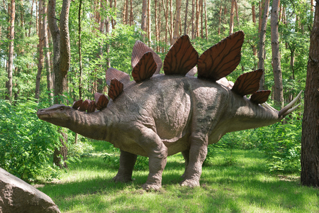 A huge prehistoric monster in the forest Stock Photo