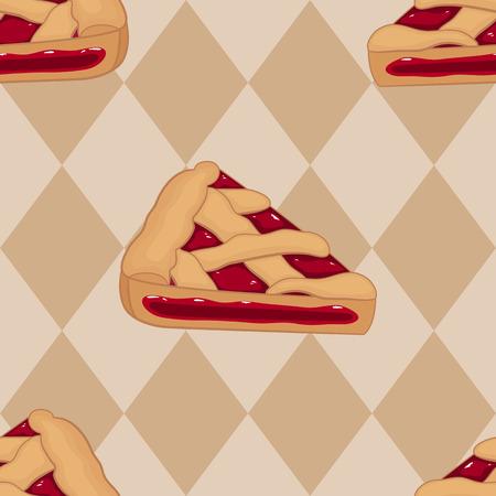 tarte aux cerises: Des morceaux de tarte aux cerises seamless