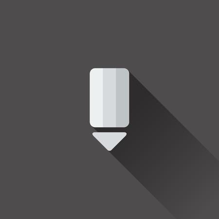Pencil icon. Flat design in black and white Vector