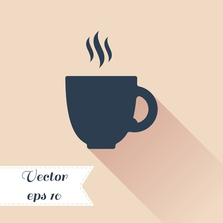 cofee cup: Cofee cup silhouette icon. Vector illustration. Flat design Illustration